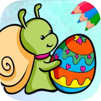 Easter eggs coloring pages for kids - Egg basket