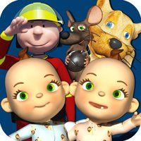 Talking Friends - Baby Twins, Firefighter, Princess, Cat and Mouse