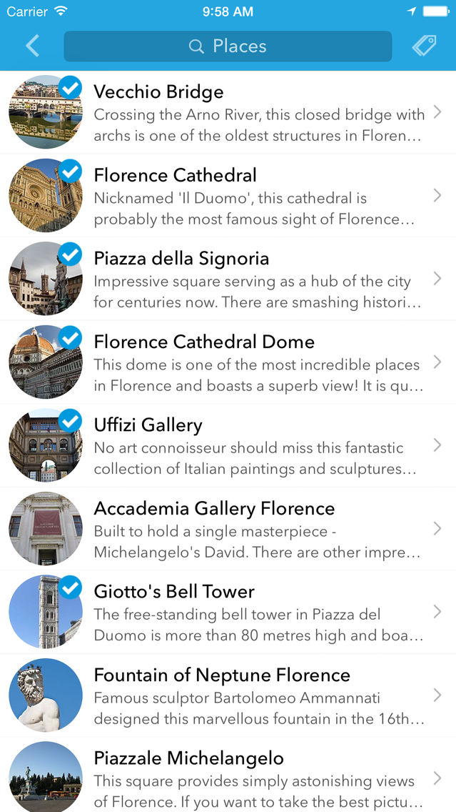 Florence Trip Planner, Travel Guide & Offline City Map App