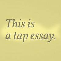 Fish: a tap essay