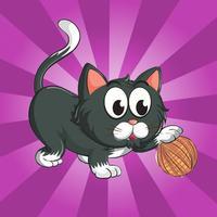 Kitty Rolling Yarn - kitty rolls yarn ball