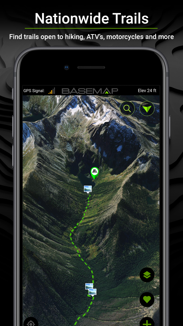 BaseMap: 3D Hunting GPS Maps App for iPhone - Free Download ... on map of georgia national parks, map weatherford, map chattanooga, map san juan,