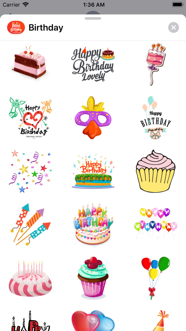 200+ Birthday MEGA Sticker App App for iPhone - Free Download 200+