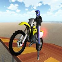 High Speed Bike Desert Jump