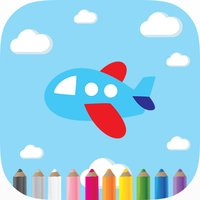 Airplane Coloring Book For Kids Learning