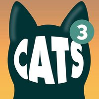 Cats Animated Text Stickers 3