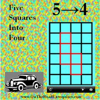 Five Squares Into Four