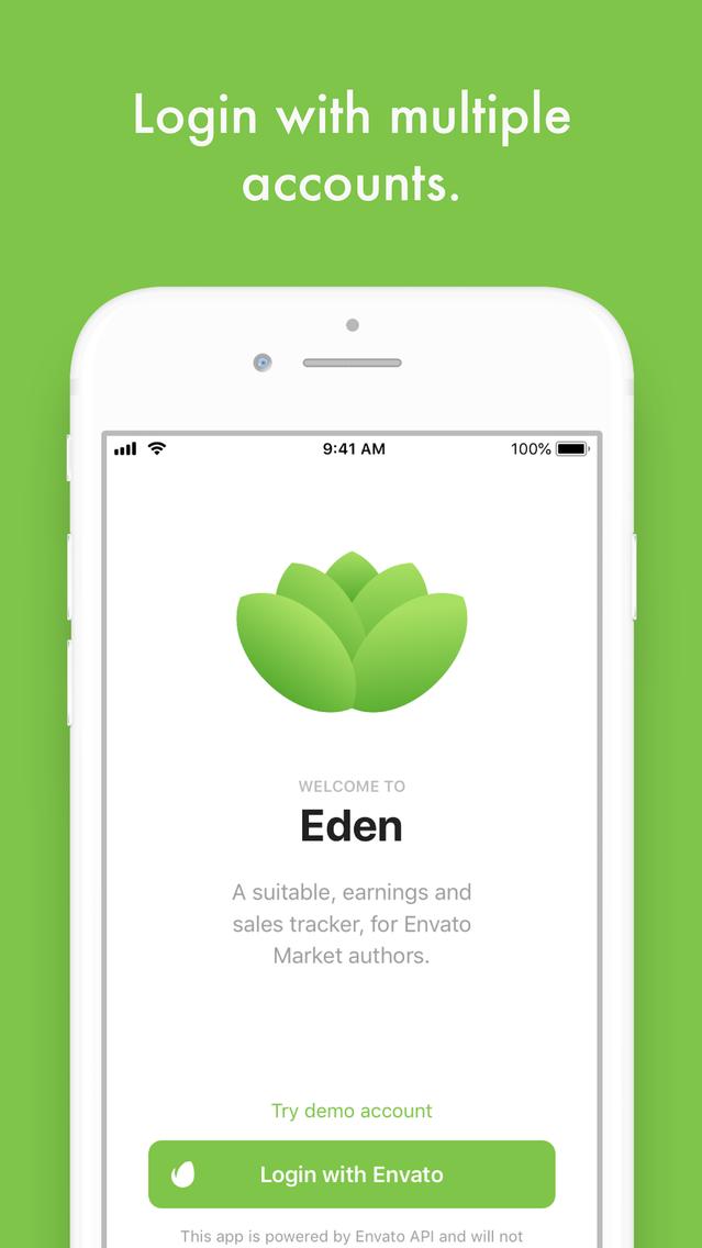 Eden - Envato Sales Tracker App for iPhone - Free Download Eden