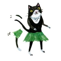 Freaky The Cat Stickers