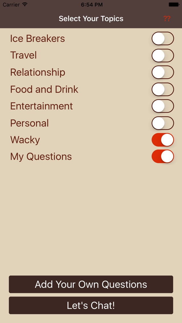 Convo-Starters App for iPhone - Free Download Convo-Starters