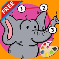 Animals Dot to Dot Coloring Book - Kids free learning games