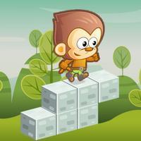 Jumpy Zoo: Bouncy Cube Dash