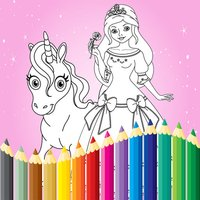 Princess Coloring Book Draw Paint for Kids & Adult