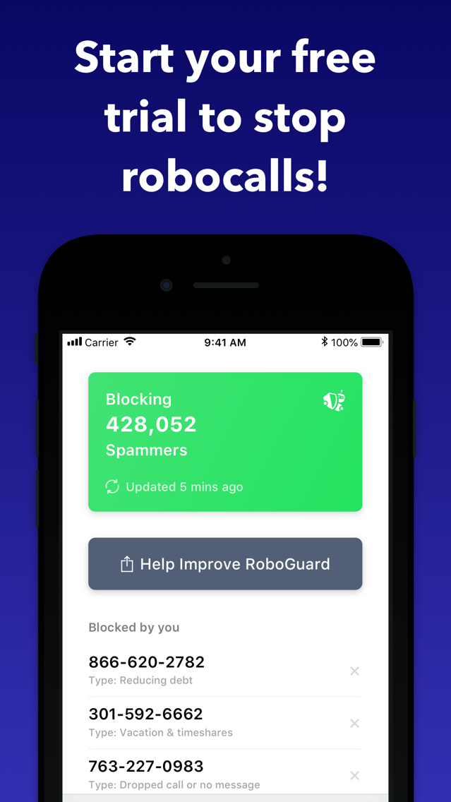 RoboGuard: Spam Call Blocker App for iPhone - Free Download