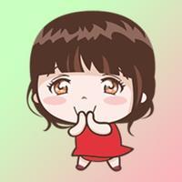 Cute Little Girl Stickers