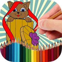 Coloring Book Funny Cats