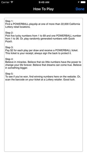 California Lotto & Powerball App for iPhone - Free Download