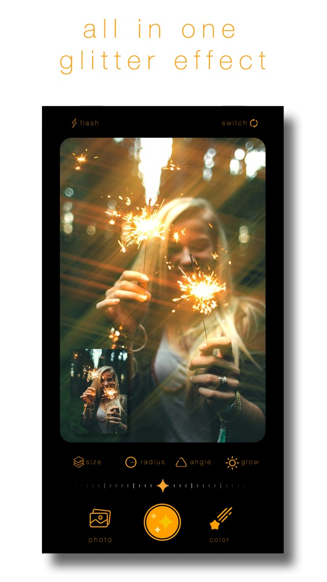 Glitter Effect - Sparkle Cam App for iPhone - Free Download