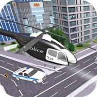 Police Helicop City Fly
