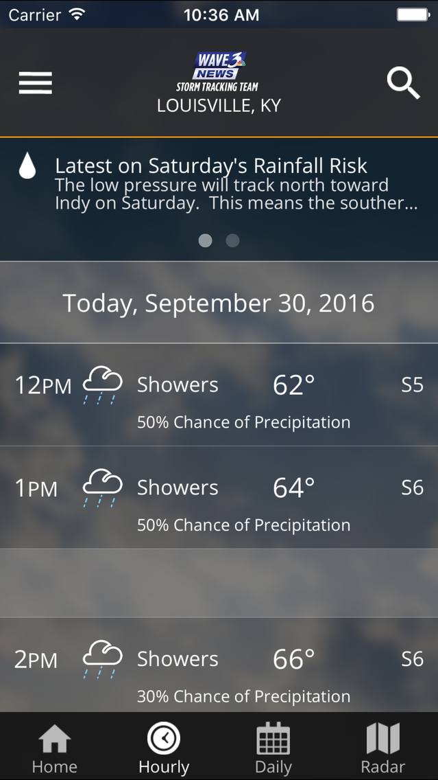 WAVE 3 Louisville Weather App for iPhone - Free Download