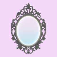 Actress of the mirror - etiquette mirror when travel cosmetic makeup