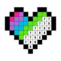 Color by Number Stickers