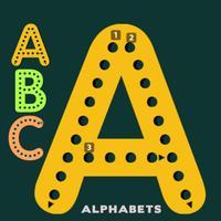 ABC Alphabets worksheet for kindergarten learning