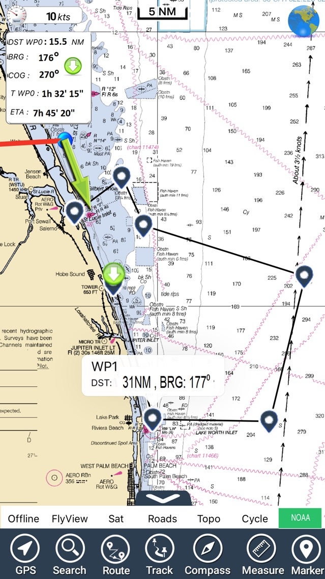 Florida Nautical Charts GPS HD App for iPhone - Free Download