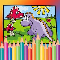 Free Kids Coloring Book - Paint Cute Dinosaurs