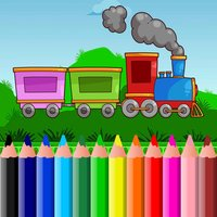 Train Coloring BookPages Free For Kids