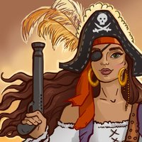 Pirate Mosaic Puzzle. Caribbean Treasures Cruise