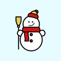Winter Stickers - Snow and hot cocoa