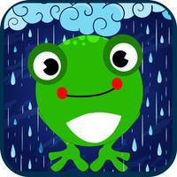Froglet jump-sweetgreen frog