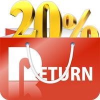 買うだけ得する通販アプリ「RETURN」還元率20%