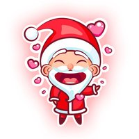Cute Santa Stickers
