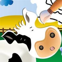 Farm Animals: Learn and Colour