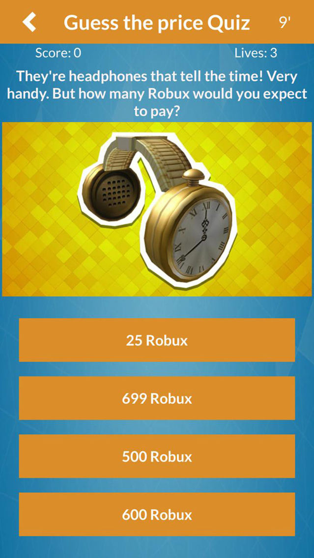 Robux For Roblox RBX Quiz Pro App for iPhone - Free Download Robux