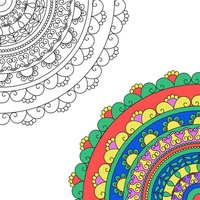 Adult Coloring Book - Free Fun Games for Stress Relieving Color Therapy and Share