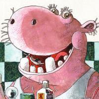 Pink Hippo Bottle Pop