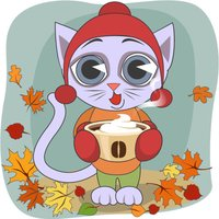Cozy Fall With A Cat stickers by kreat-iva