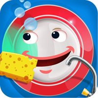 Kids Dish Washing and Cleaning Game - Free Fun Kitchen Games for Girls,Kids and Boys