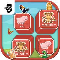 Match Pet Animal Cards Kids Game