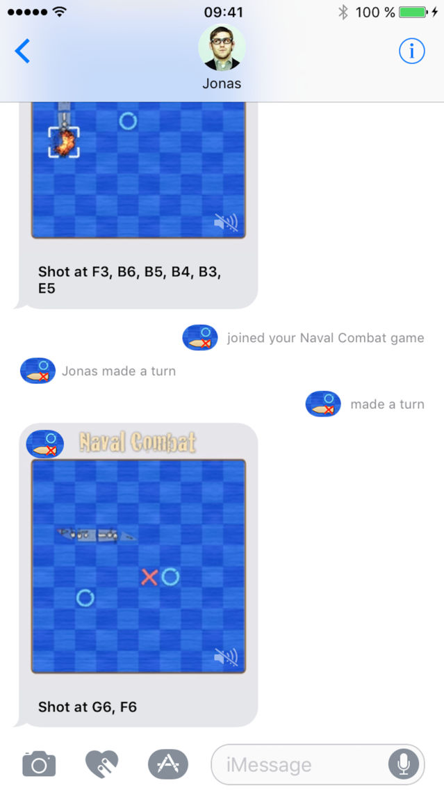 Naval Combat for iMessage App for iPhone - Free Download
