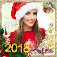 New Year Theme Photo Sticker.s