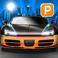 3D Night Parking Simulator Sports Car Driving Game