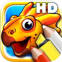 Coloring books for toddlers HD - Colorize jurassic dinosaurs and stone age animals