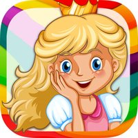 Royal Princess - coloring book for girls to paint and color fairy tales