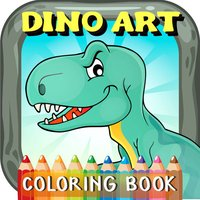 DinoArt Dinosaurs Coloring Book For Kids & Toddler