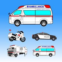 Which is the same Ambulance or Police Car