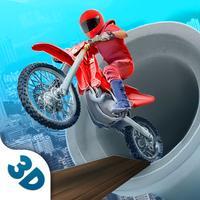 Impossible Motor Bike Sky Race